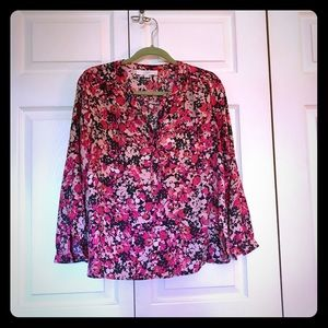 Loft Navy and Pink Floral Tunic